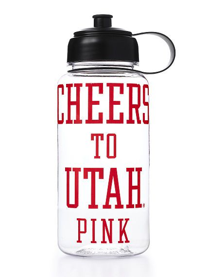 University of Utah Water Bottle #PINK #utahutes
