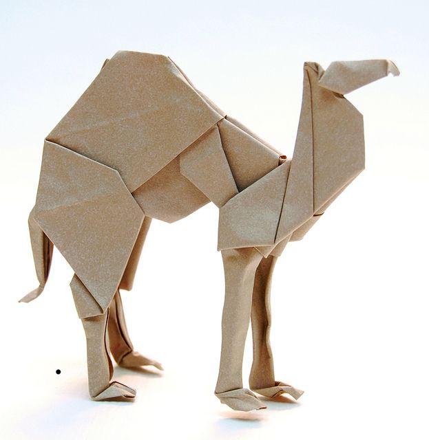 Origami art: Kamel