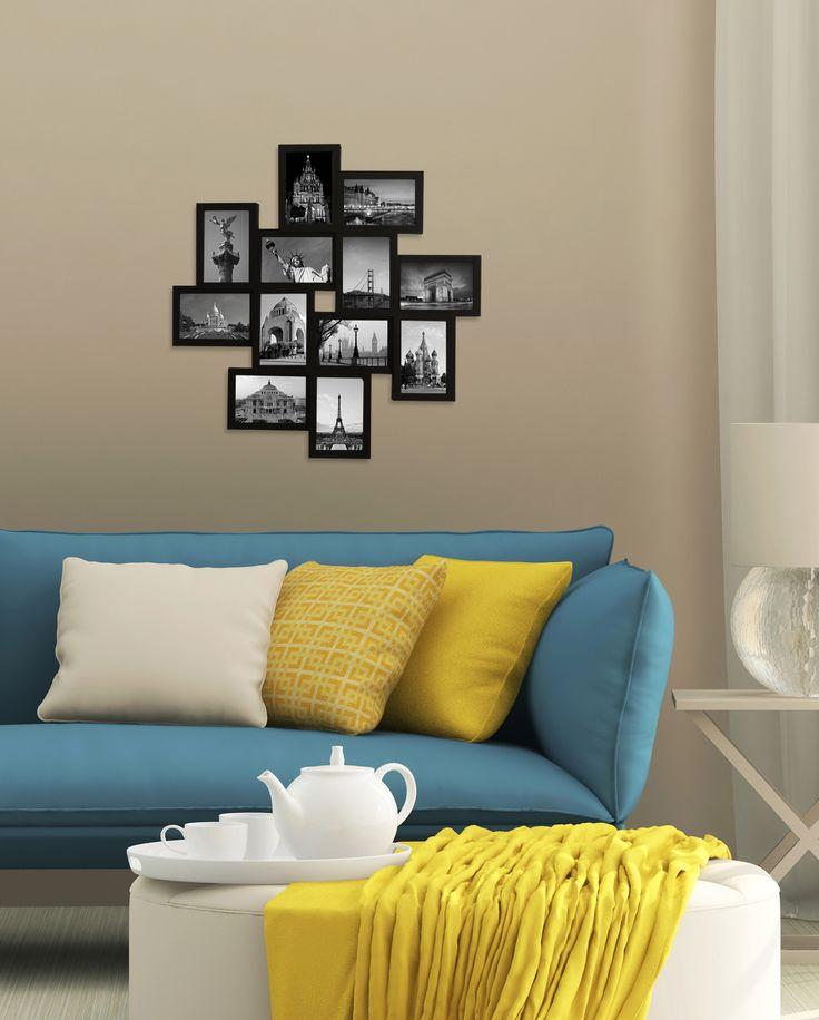 Mantén a la vista tus recuerdos con este portarretratos en collage.