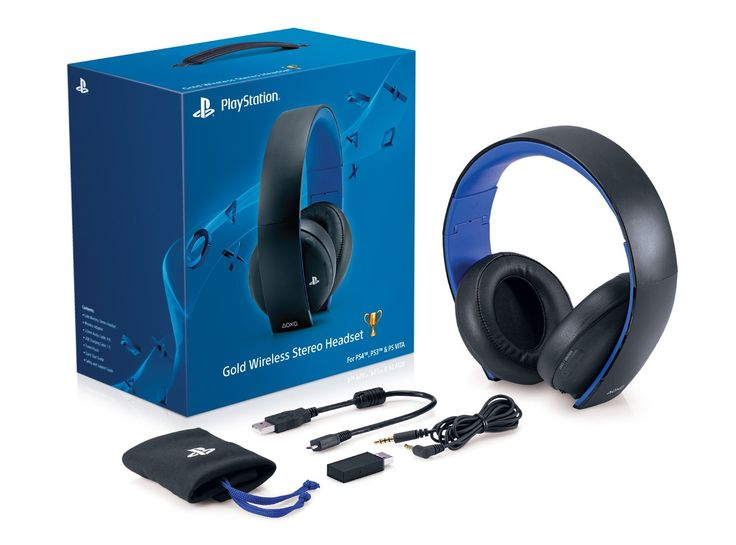 Amazon.com: Gold Wireless Stereo Headset: playstation 4: Video Games-> $80