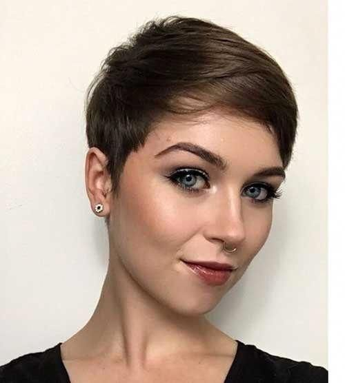 Chestnut-Brown-Pixie-Hair Superb Short Pixie Haircuts for Women #shortpixiehair
