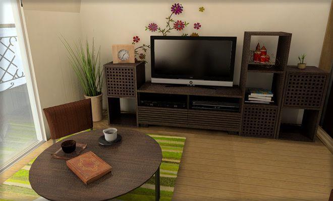一人暮らしの5畳正方形ワンルームをアジアンモダンにコーディネート 実例4