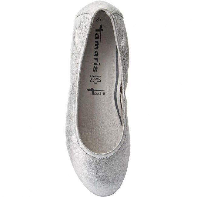 Baleríny TAMARIS - 1-22149-38 Silver 941