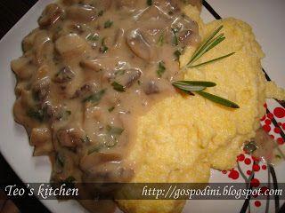 Tocăniţă de ciuperci cu smântână - Retete culinare by Teo's Kitchen