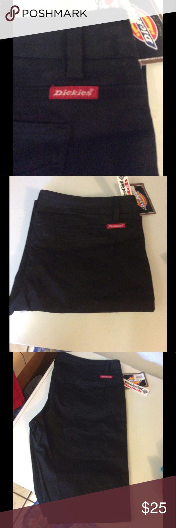 NEW DICKIES BLACK KNEE SHORTS Dickies Black Knee Shorts Dickies Shorts
