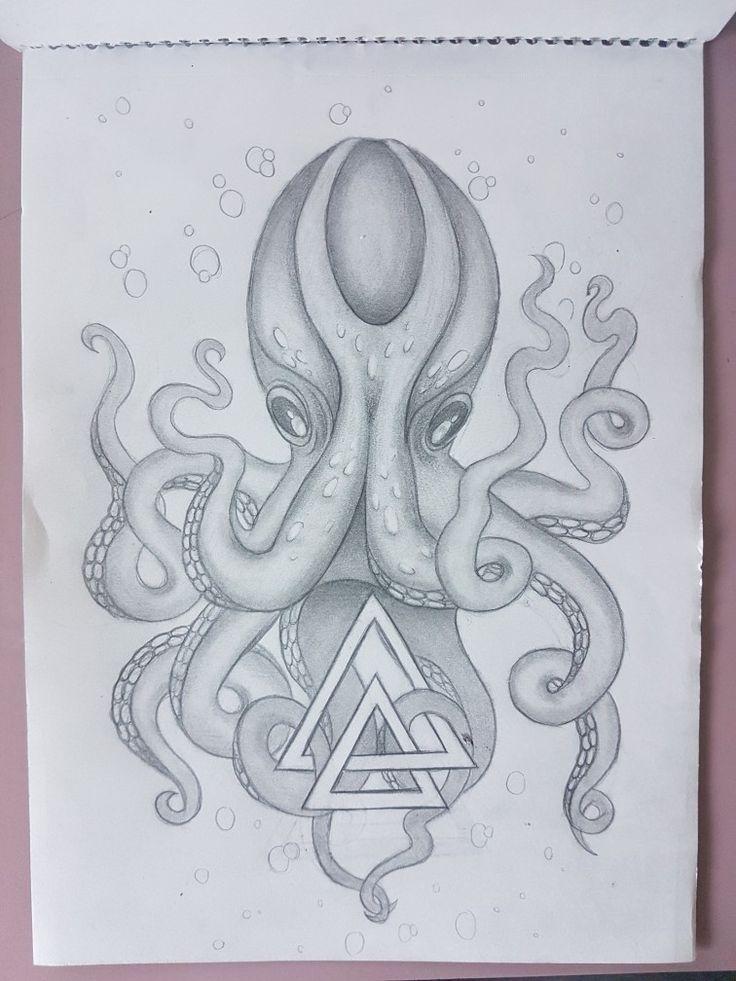 Octopus Kunst Octopus Tattoo Octopus Zeichnung, # Kunst #Zeichnen #Octopus #OctopusTattoofemale #Tat …