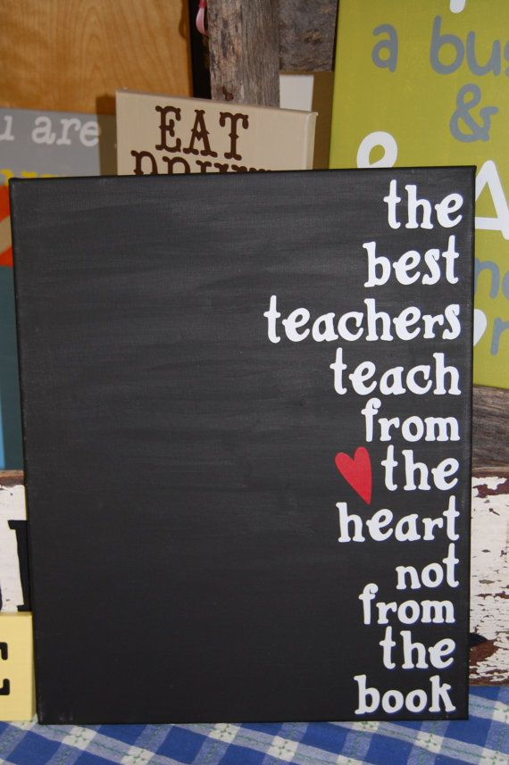 Teachers Canvas Gift by TwoCraftyTeachers on Etsy, $18.00