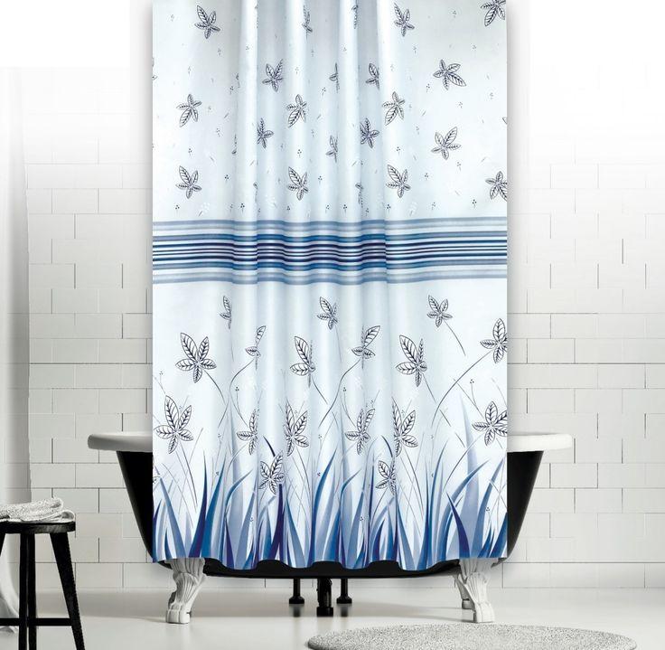 Kék Mezei Virágok zuhanyfüggöny