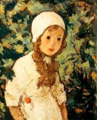 """Fetita Padurarului"" 1924  (""Farmer's Daughter"") by Nicolae Tonitza"