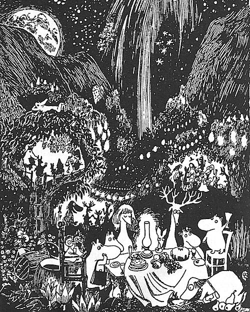 Moomins at night