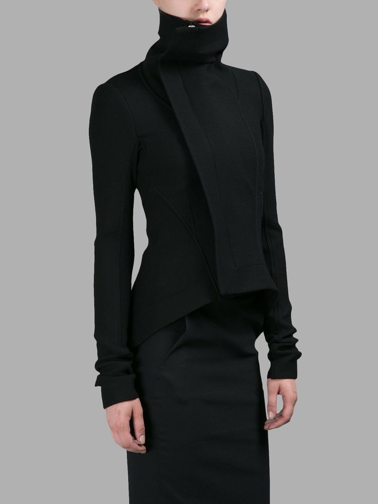 Minimalist modern cuts and chic style . All black everything