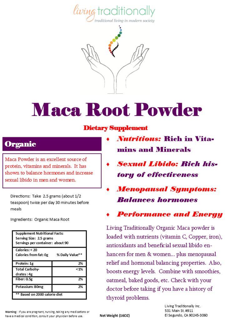 Organic Maca Powder Balance Hormones Improve Energy Reproductive Health Menopausal Symptoms 16oz Maca Powder Hormones Maca Root Powder