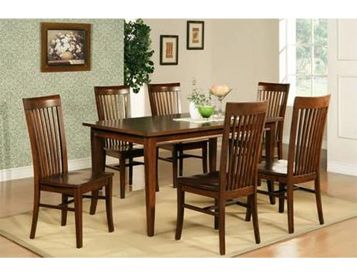 Espresso Dining Table Set By Steve Silver Features A Contemporary Style In Multi Step Rich
