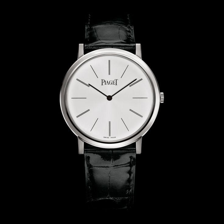 Montre mécanique extra-plate or blanc - Piaget Montre de Luxe G0A29112