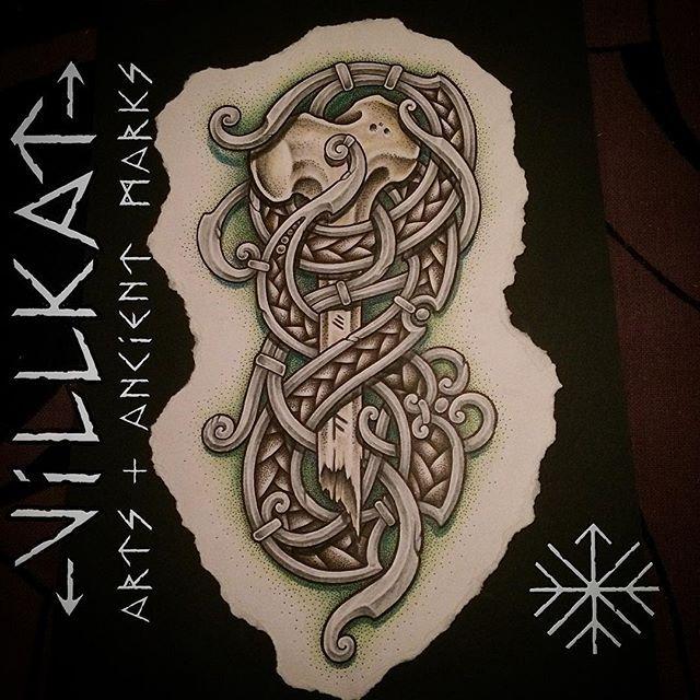 Фотографии Славянские и скандинавские татуировки | эскизы – 19 альбомов