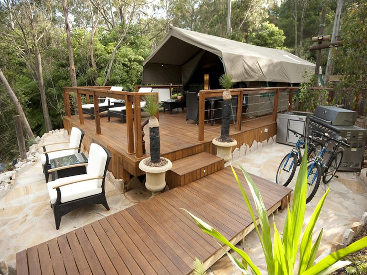 Tandara Luxury Eco Tent exterior //.greengetawaysaustralia.com.au & 7 best Stunning accommodation in NSW from Green Getaways Australia ...