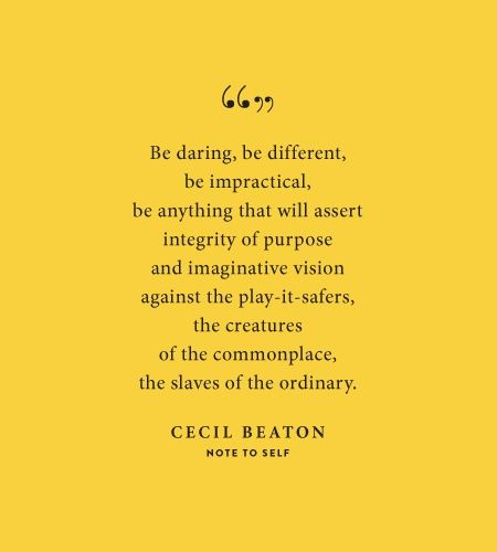 cecil beaton, note to self