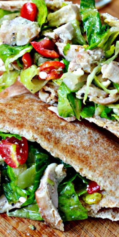Greek Chicken Salad Pita Pockets