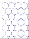 Penny Tile Template Maker  Use following specs for UK copper pennies:  Dot weight - 0.5 points  Grid spacing - 2.4cm  Radius Multiplier 0.9 (for grout)