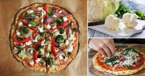 Pizza+de+coliflor+sin+harina