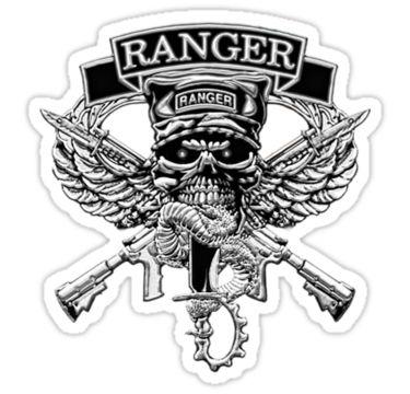 Army Rangers Skull Army ranger