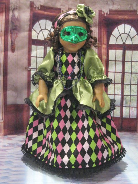 """Mardi Gras Ball""For Marie-Grace,Cecile, Etc Fits 18"" American Girl Doll Clothes #Handmade #DollClothes"