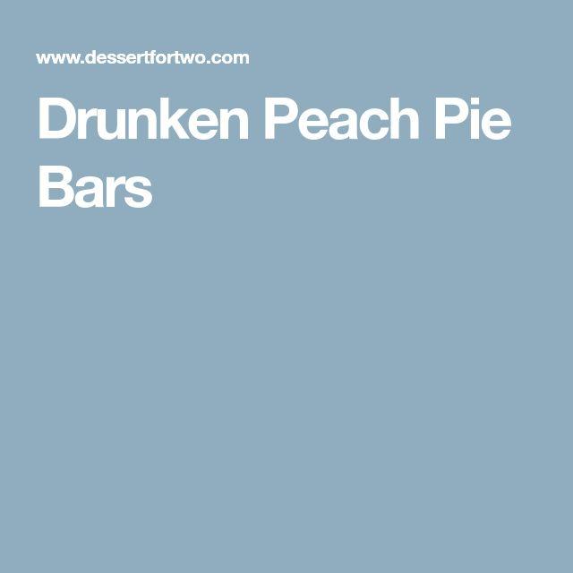 Drunken Peach Pie Bars