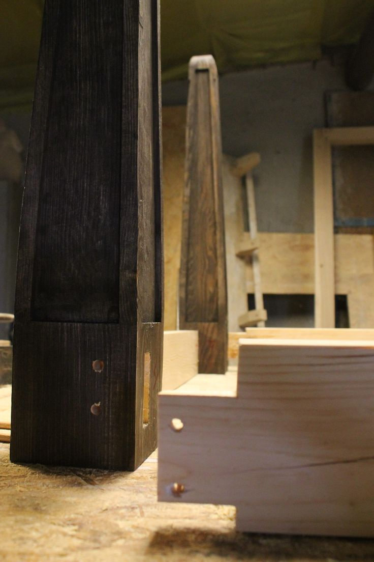 Mortise and tenon joint, woodworking in Poland wooden table www.drewnoikamien.pl