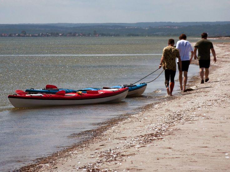Marsz z kajakami Rewą Mew przez Zatokę Pucką