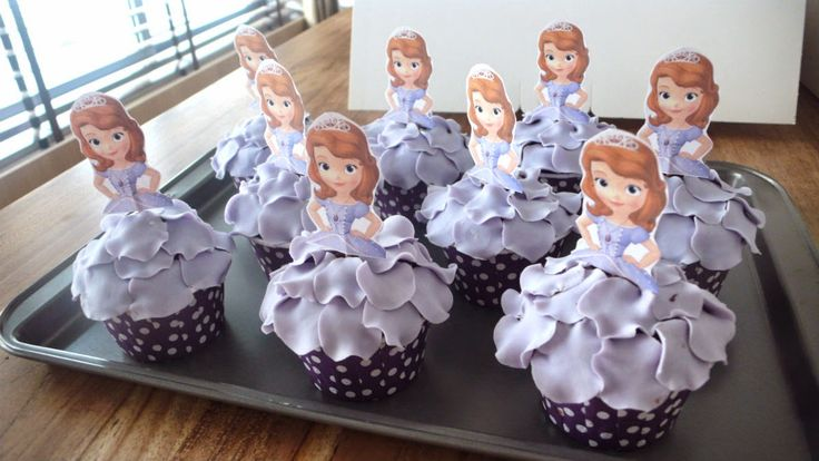 sofia the first fondant cupcakes - Google Search