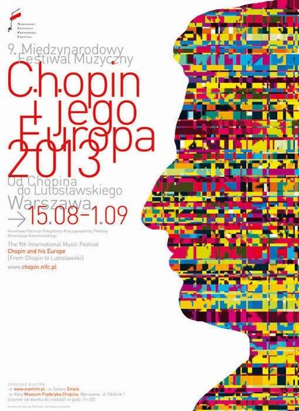 Festival Chopin and his Europe 2013 Chopin i jego Europa 2013 Komorek Dariusz Polish Poster