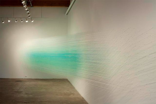 Anne Lindberg thread colour installation