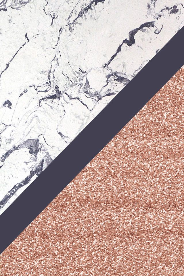 Marble And Rose Gold Phone Wallpaper Background