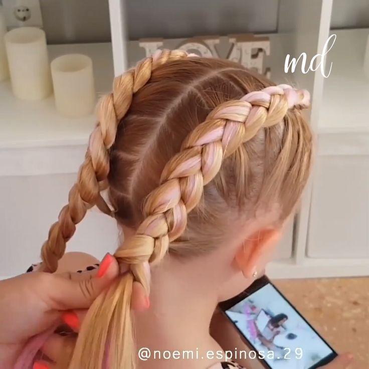 Einfache Zopfe Fur Madchen Einfache Madchen Zopfe Frisuren In 2020 Madchen Zopfe Kinderfrisuren Geflochtene Frisuren