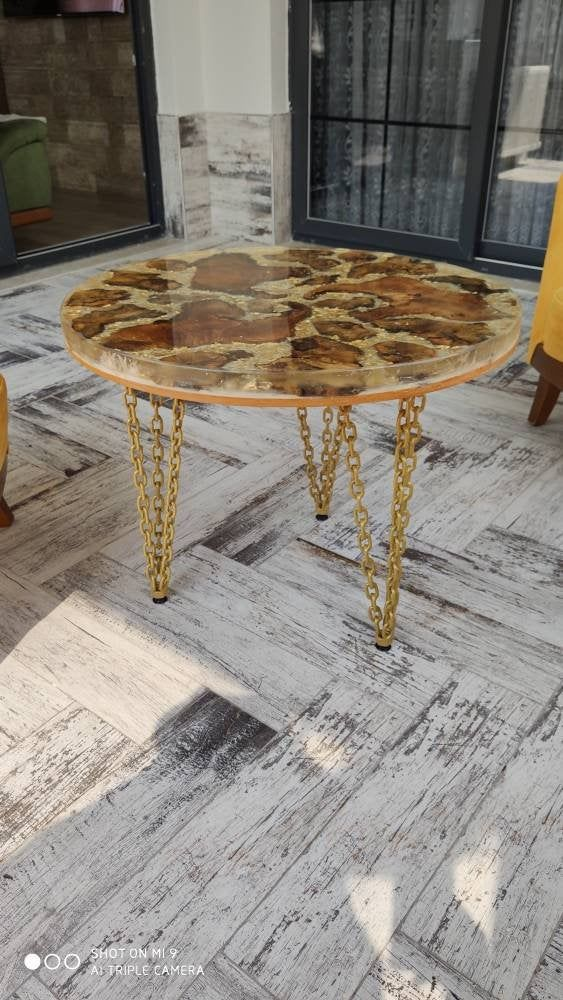 Epoxy oak tree table, table, coffee table, MajesteEpoxy, home decor, housewarming gift, resin table, nature, oak tree table, Majeste Epoxy