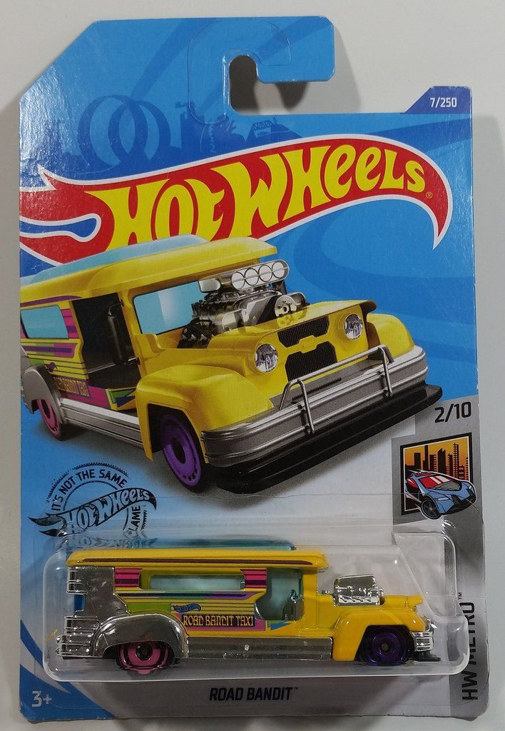 2020 Hot Wheels HW Metro Road Bandit Yellow Die Cast Toy