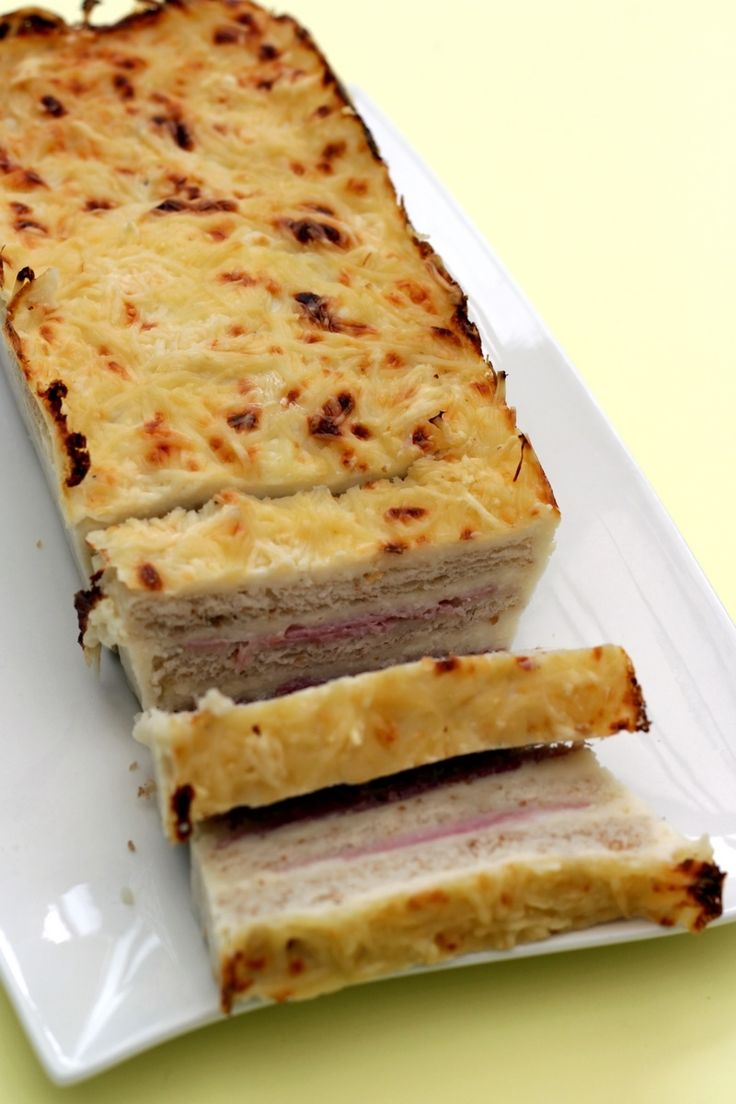 Croque cake jambon – fromage façon Weight Watchers