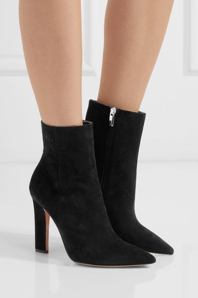 Gianvito Rossi - Suede Ankle Boots - Black - IT