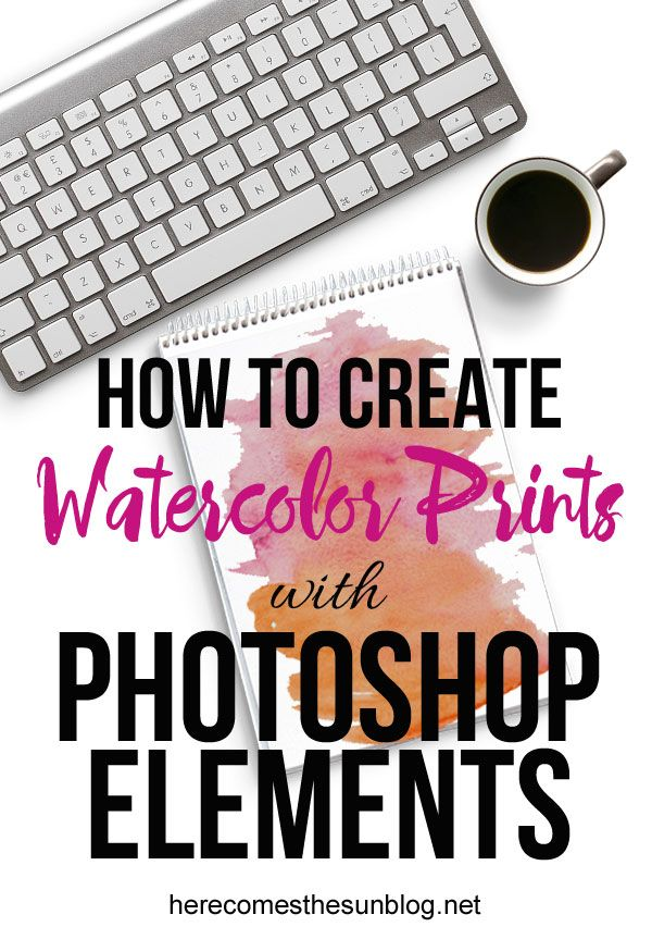 Learn how to create digital watercolor prints with Photoshop Elements