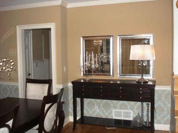 Sherwin williams latte pictures glam dining room for Glam dining room ideas