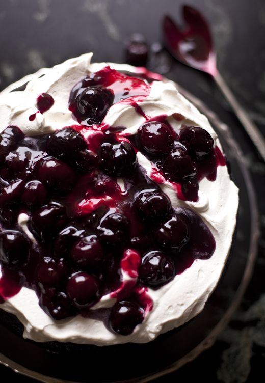 Cherry Chocolate Cake--dad's next birthday?