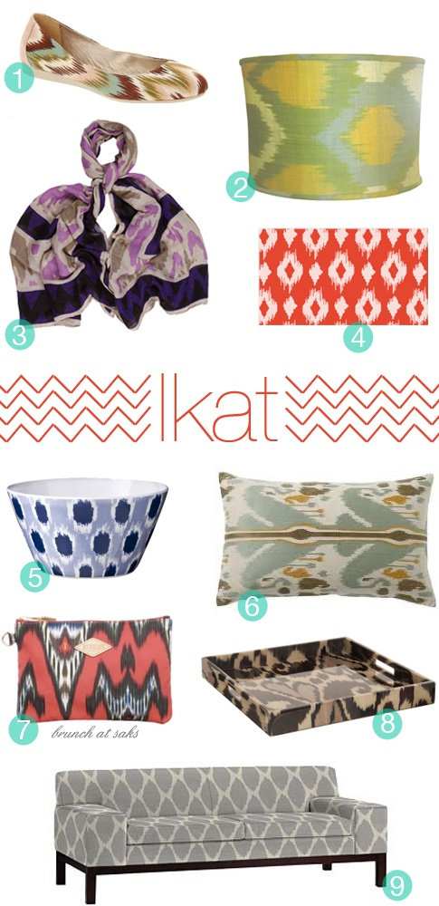 Love this combination of colours for the living room (obviously not ALL ikat...)