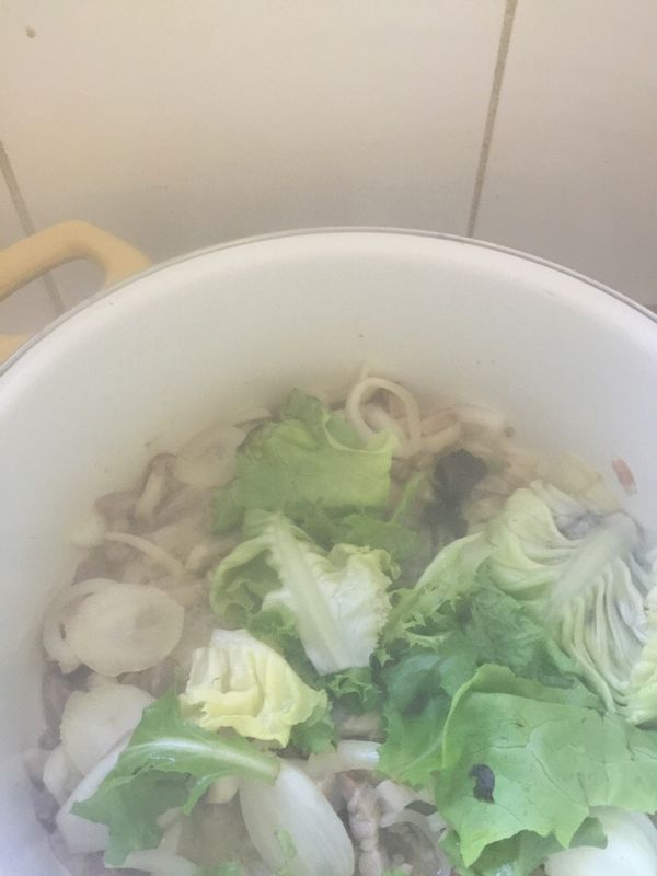 Salade au lard cuite
