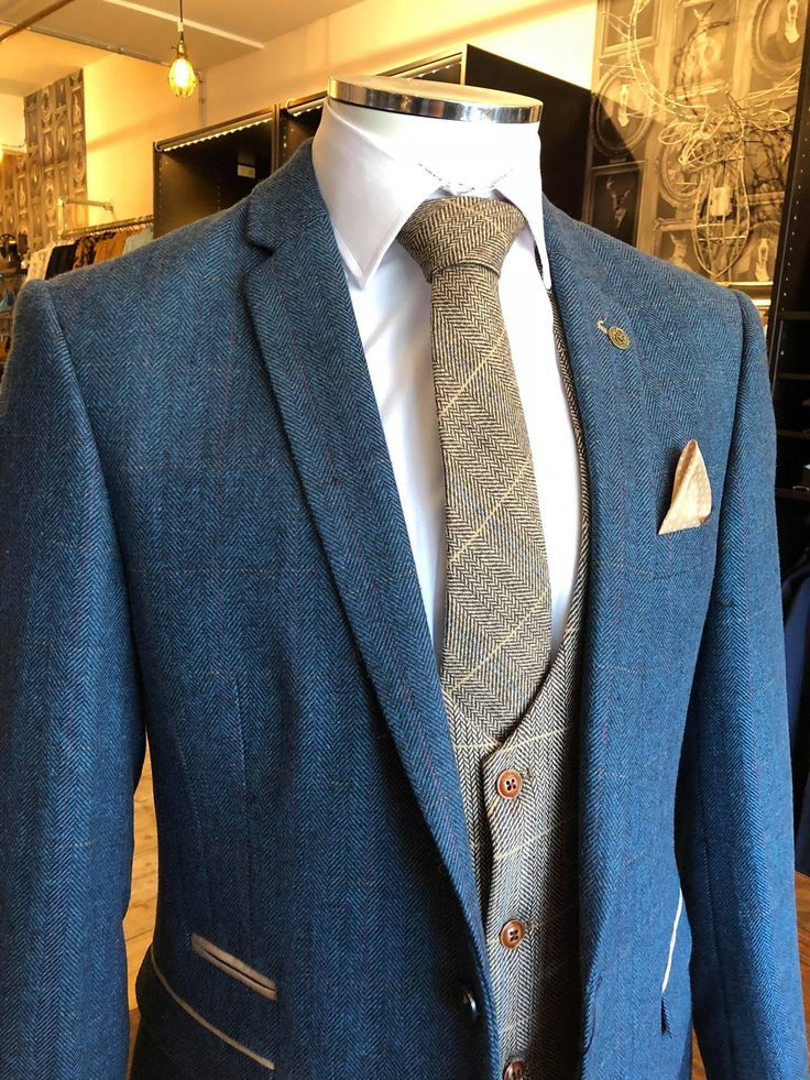 £207.97 – A modern twist on tweed suit styling with contrasting tweed tie and w… – Suit Models
