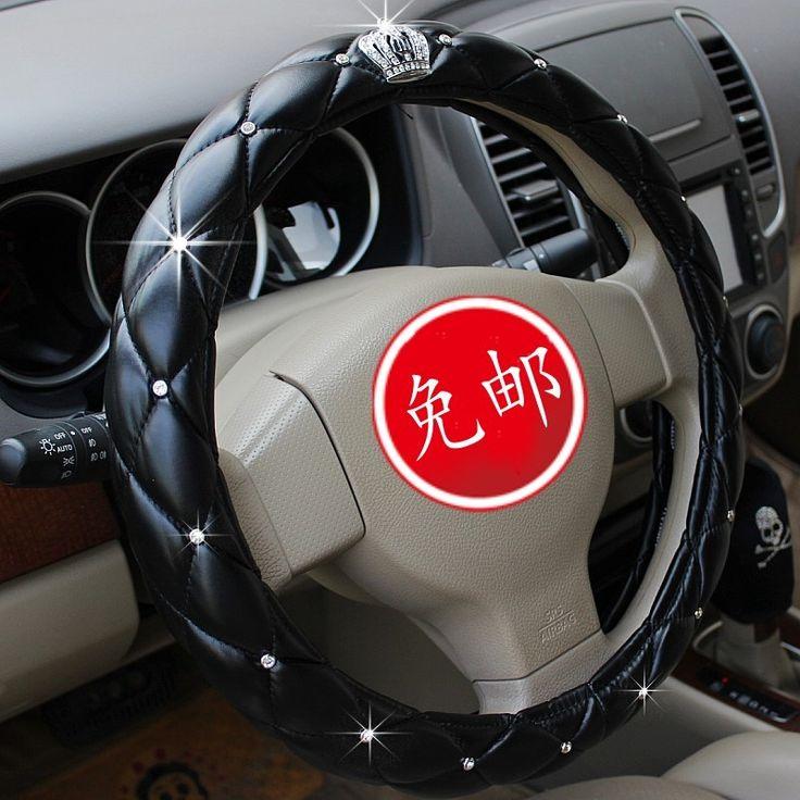 Auto supplies accessories four seasons general vip dad rhinestone diamond steering wheel cover Car Steering Wheel(China (Mainland))