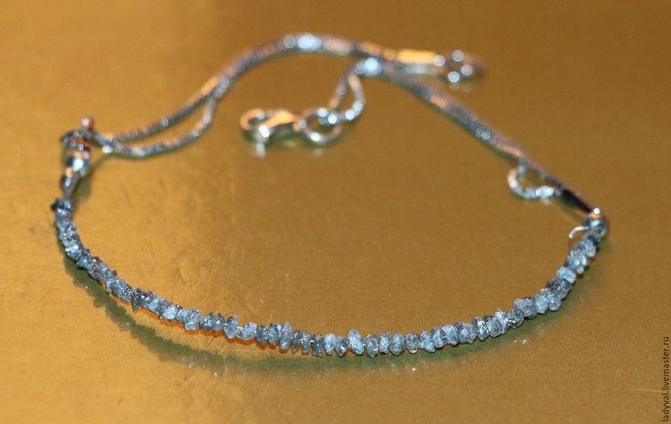 Купить Браслет алмаз природный необработанный Бирма-серебро 925% - красивый подарок, красивое украшение