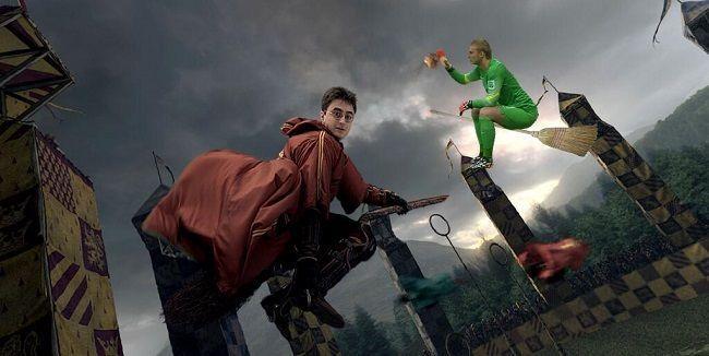 Holender lata na miotle • Śmieszne memy • Jasper Cillessen występuje w Harrym Potterze • Cillessen bohaterem zabawnego zdjęcia >>