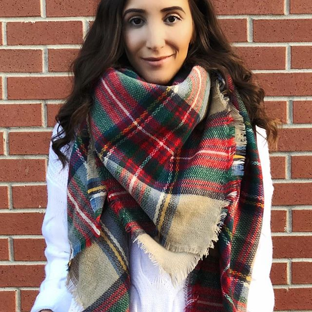 Loving our Chloe Blanket Scarf. Now available in 4 amazing colours  Shop now via link in our bio! ✨#ilovepeachlea
