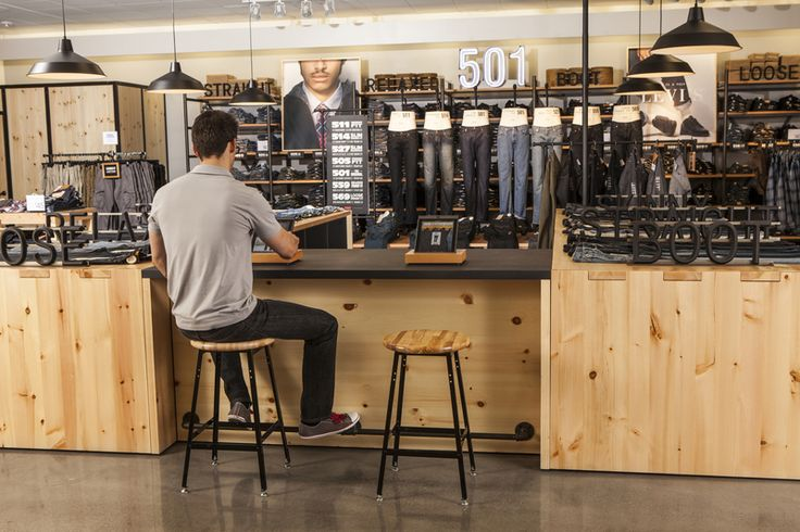 The new Levi's Shop at jcpenney features an exclusive denim bar experience equipped with iPads and dedicated fit specialists to help customers find the perfect pair of jeans. Photo Credit: Shannon Faulk/Getty Images