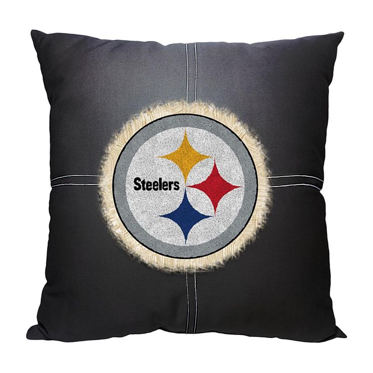 Officially Licensed NFL Letterman Pillow - Steelers
